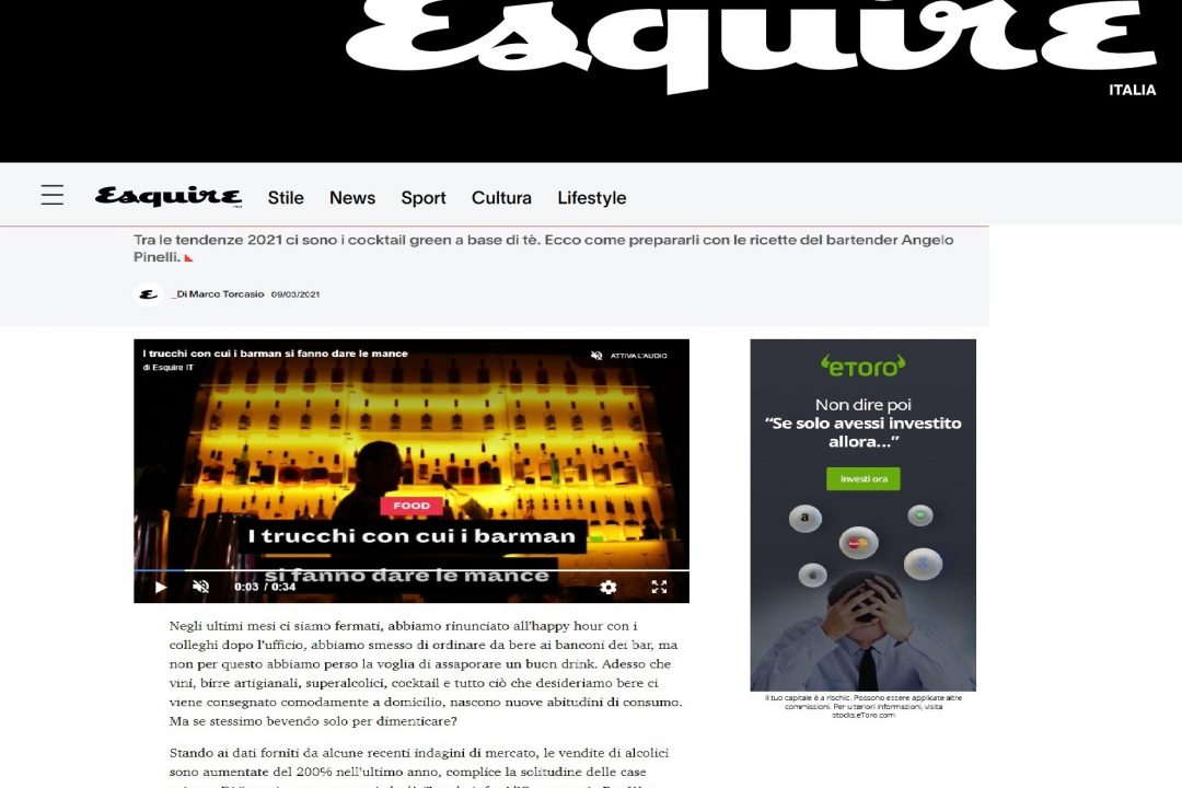 Esquire parla di MIXOLOGY Academy