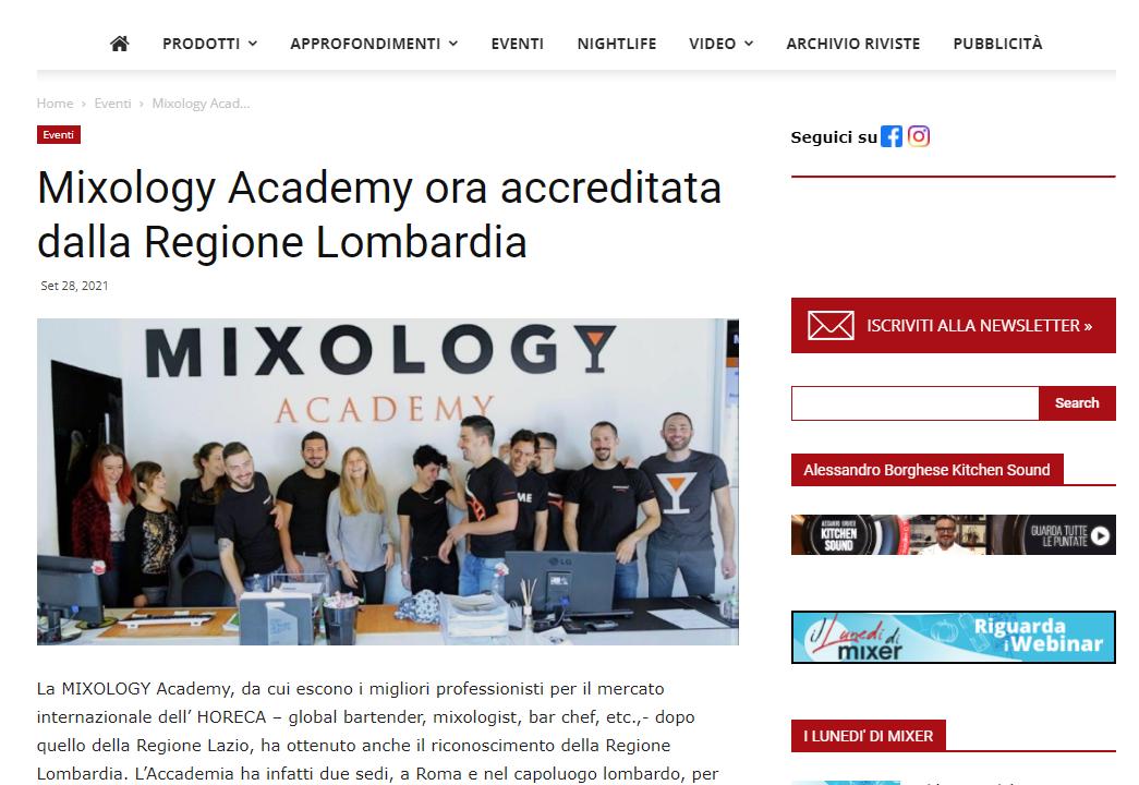 Mixer Planet parla di MIXOLOGY Academy